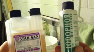 Iodophor and Star San Sanitizers
