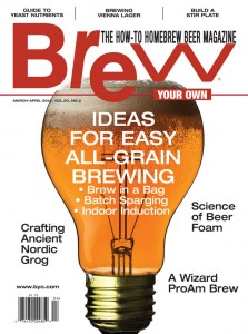 Brew-in-a-Bag Featured Article in the March-April 2014 Edition of Brew- Your Own Magazine